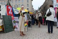 Straßentheater gegen Freihandel