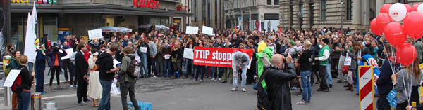 Demonstration gegen TTIP & Co.