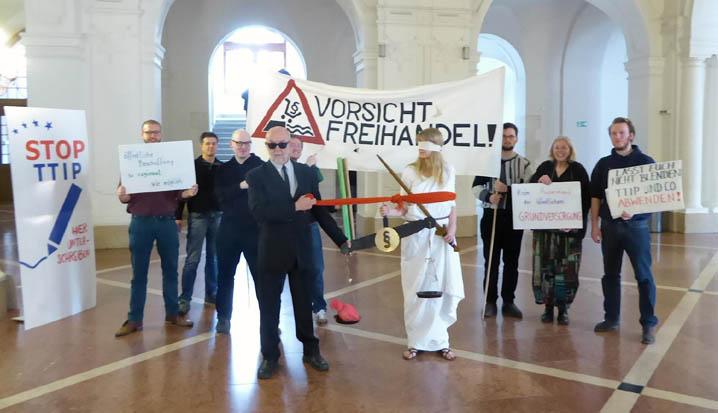 Protest im Rathaus
